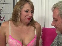 Old Catrina Costa Gets Her Shaggy Pussy Pleasured with Fingers and also Cock
