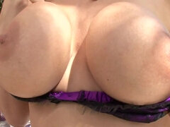 Busty dirty talking MILF mom fucks horny young hunk