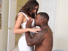 Hotwife August Ames facefucked and pussy destroyed by the bbc master