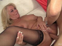 Crystal Taylor gets jackhammered by our stud who cums on her tits