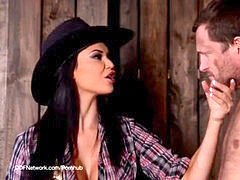 Jasmine Jae in cowgirl domme gonzo male punishment