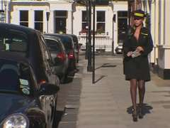 Ash-Blonde British Traffic Warden Ass Fucking