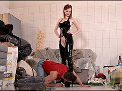 Dominant Examination British Gothic Domina Gnaws His Sack