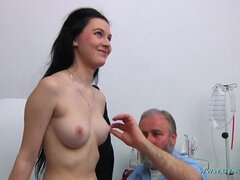 Bearded Doctor Does Breast Check Up, Anal And Vaginal Inspection