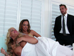 Best man serving his dick to the bride Phoenix Marie and her friend Jada Stevens