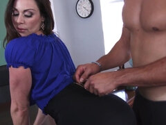 Teacher Kendra Lust uses student's dick to satisfy her pussy in the class