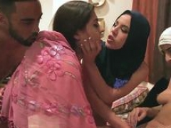 Group bondage and additionally big Hot arab women try foursome