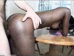 black - Mocha (Black Cheerleader Search #10)Cute tiny teenager