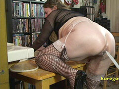 big-chested babe dumps milk enema for her beau