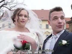 HUNT4K. Beautiful 18-19 y.o. bride gets fucked for cash in front of her groom