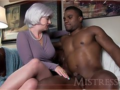 My Friends Mom Blond Hottie Takes A Huge Black Cock