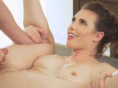 Hot Casey Calvert with beautiful boobs has sex with her cousin and gives a blowjob