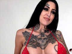 Busty Janey Doe gagged and boned by a phat wood