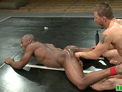 ebony muscle wrestling wolf cocksucks jock