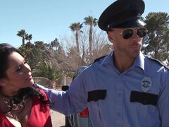 Beautiful milf is fucking a police officer