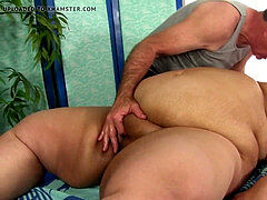 pervy masseuse Plays with youthful SSBBW Lorelai Givemore