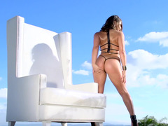 Oiled butt adult entertainment babe Abella Danger fucked in the ass