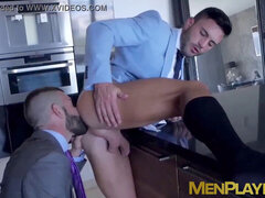 Businessman pounding partners tight wet ass slot stiff