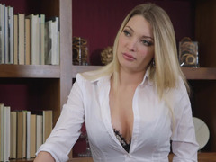 A blonde is penetrated in an erotic chapter in the office