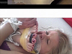 Whitney Morgan & Shauna Ryanne gagged and feet trussed to face