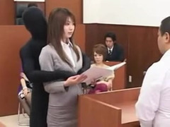 Those crazy japanese dame lawyer laid by invisible shadow