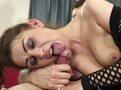 Hot eager mom sucks and also gets down and dirty