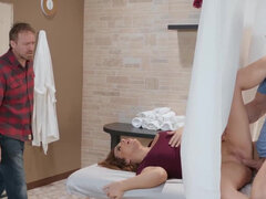 Natasha Nice getting rubbed & fucked by the massage therapist