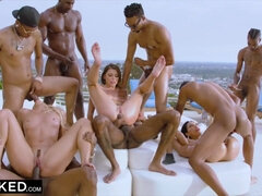 Teanna Trump, Adriana Chechik, and Vicki Chase Black Gangbang