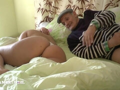 Voluptuous Blond Fucks Crazy Old Perv