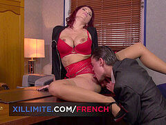 huge-titted French cougar Julie Valmont anal fuckfest