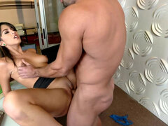Charming personal assistant Sophia Leone takes care of her boss's dick