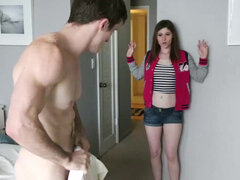 Terra Cox fuck brother's roomie & take a creampie