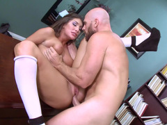 Hot lady is getting penetrated in the office by her teacher