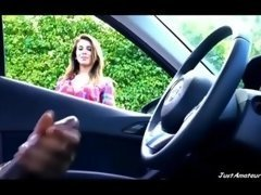BBC purple rod flv broad contemplating black guy wanking in car JustAmateurs.tv
