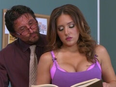 Horny teacher is fucking his busty student