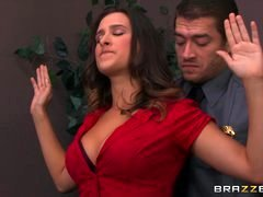 Brazzers - Ashley Adams gets pounded by two cops
