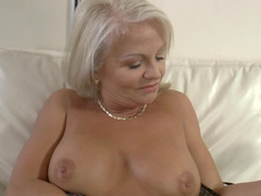 Curvaceous sexually available mom satisfied by the cock of a younger man