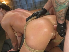 Girl Next Door Vera King Gets Every Hole Fucked in Rope Bondage