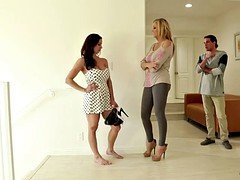 Aged woman Kendra Lust with huge bra buddies and a impeccable body seduced by her friend's son