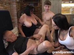 Naughty pummeled up family orgy