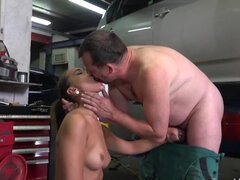 A perverted mechanic can get no money, but she can pay him differently