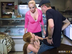 Brazzers Lucky Danny D gets shared between two beauties
