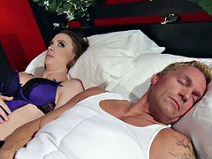 Married lady Chanel Preston gets titfucked and additionally her pussy plowing by thief