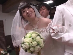 Christian Japanese wedding with the busty bride and the bride's maid fucked in church