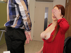 LOAN4K. Big-Bosomed redhead pays with intimacy for development...
