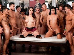 Crazy gangbang session with Malena Nazionale and Martina Smeraldi