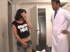 Seductive nurse Yu Shinohara is getting a shot of cum on her face
