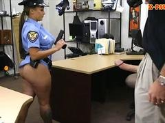 Breasty latin police dame screwed hard by pawn keeper