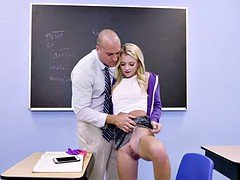 Hot legal teen Riley letting her instructor make love her to pass exam