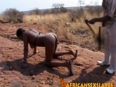 Rough fingering and moreover abusing with nasty African hoe!